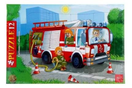 Пазл Hatber Пожарная машина 12 элементов