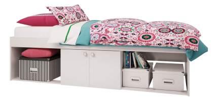 Кровать Polini Simple 3000 с нишами, белый