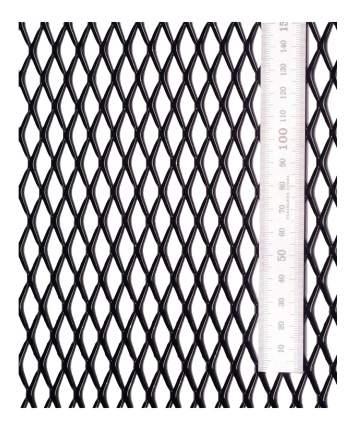 Сетка в бампер автомобиля АВС-Дизайн R25 100x25 Black