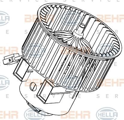 Двигатель моторчика печки Hella 8EW 351 040-271