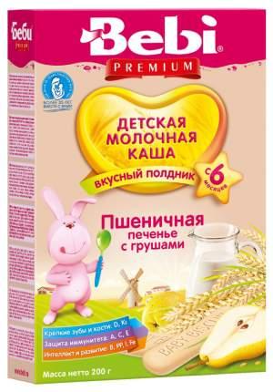 Молочная каша Bebi Пшеничная с печеньем и грушей с 6 мес 200 г