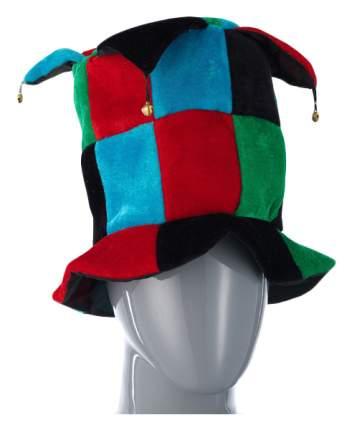 Шутовская шляпа с бубенцами черно красно зеленая Snowmen Е40247