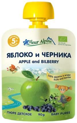 Пюре фруктовое Fleur Alpine Яблоко и черника с 5 мес 90 г