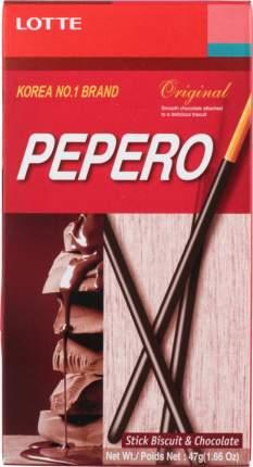 Соломка Lotte pepero original с шоколадом 47 г