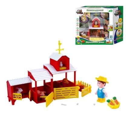 Игровой набор Наша ферма - двухэтажный домик с фермером и зверюшками 1Toy т11046