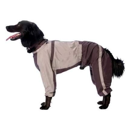 Комбинезон для собак ТУЗИК размер XL мужской, бежевый, коричневый, длина спины 40 см