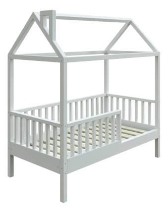 Кровать-домик Трурум KidS Сказка узкий бортик, вход справа белая