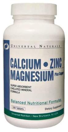 Кальций Universal Nutrition Calcium Zinc Magnesium 100 табл.