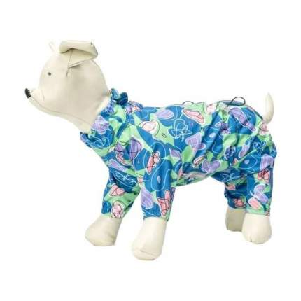 Комбинезон для собак OSSO Fashion размер M женский, голубой, длина спины 28 см