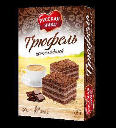 Торт песочный Русская Нива трюфель шоколадный 400 г