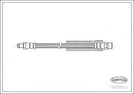 Шланг тормозной Corteco 19018507