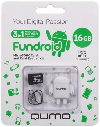 Карта памяти Qumo Micro SDHC Fundriod 16GB