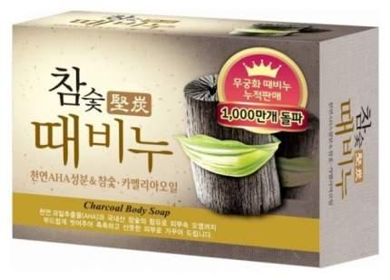 Косметическое мыло Mukunghwa Hardwood Charcoal Scrub Soap 100 г