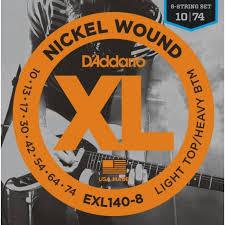 Струны для электрогитары D ADDARIO EXL140 -8