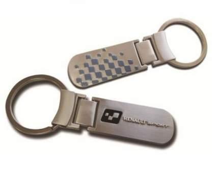 Металлический брелок для ключей Renault 7711576433 Silver