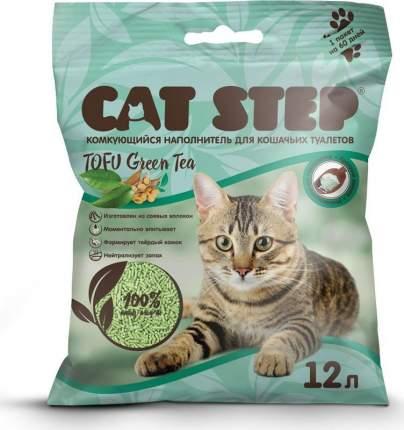 Комкующийся наполнитель для кошек Cat Step Tofu соевый, зеленый чай, 5.4 кг, 12 л