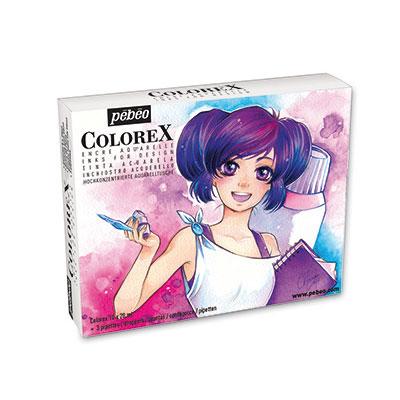 Акварельные чернила Pebeo Colorex. Манга 320298 10 цветов