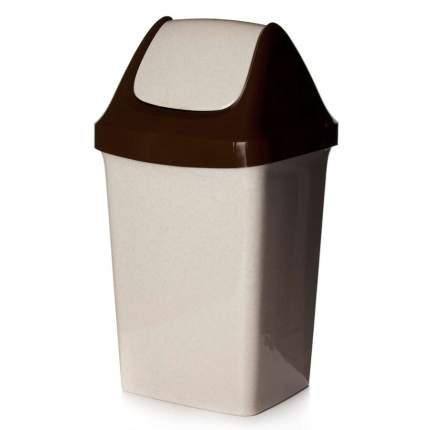 Контейнер для мусора СВИНГ 25 л (беж. мрамор)