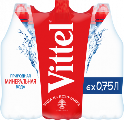 Минеральная вода н/газ  Vittel 0.75 л пэт по 6 шт