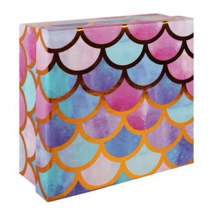 "Коробка подарочная ""Волны акварель"", 15 х 15 х 6,5 см"