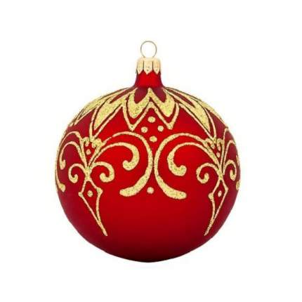 Шар на ель Новый год 9.5 см С 620-красный