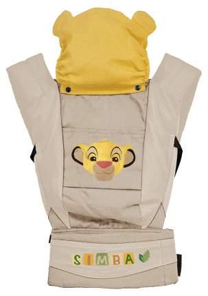 """Рюкзак-кенгуру Polini kids Disney baby """"Король Лев"""", с вышивкой, бежевый"""