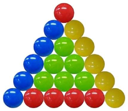 Шарики пластиковые, цветные, 150 штук, диаметр 85 мм
