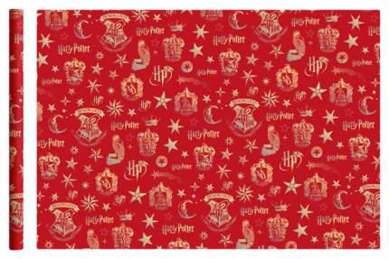 """Упаковочная бумага """"Harry Potter"""", 70х100 см, 2 шт в рулоне (красная)"""