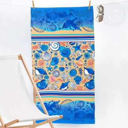 Банное полотенце АРТ ДИЗАЙН Пляж разноцветный 80x150 см (1 шт.)