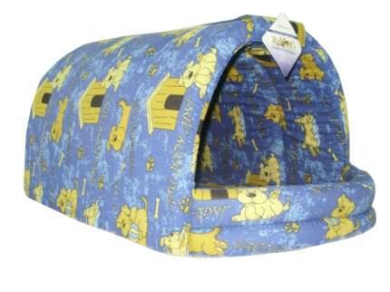 Домик для собак Бобровый дворик Эксклюзив Эстрада №4, глубокий, синий, 57х81х45 см