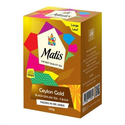 Чай черный Matis золото цейлона  100 г