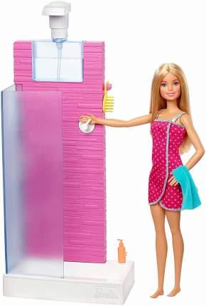 Игровой набор с куклой Barbie Барби в душе FXG51