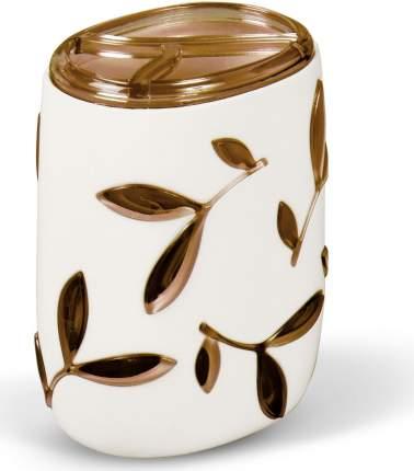 Подставка для зубн.щеток Tatkraft Immanuel Olive коричнево-белый (12011)