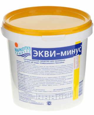Средство для чистки бассейна Ekvi-minus 1 кг