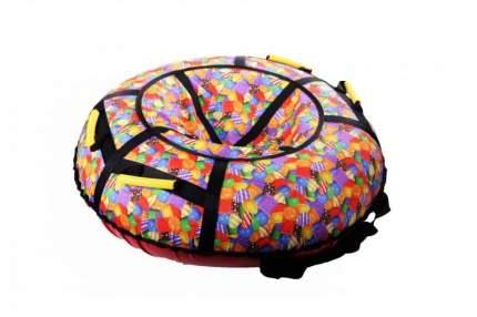 Санки надувные STELS 90 см без камеры СН030 оранжевый/разноцветные леденцы