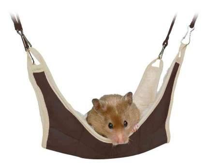 Гамак для хомяков, мышей TRIXIE Hammock, искусственный мех, нейлон, в ассортименте 18x18см