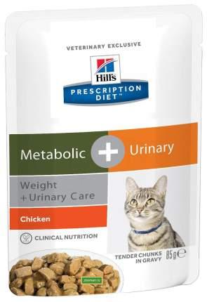 Влажный корм для кошек Hill's Prescription Diet Metabolic+Urinary, курица, 85г