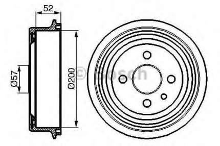 Барабан тормозной Bosch 0986477018