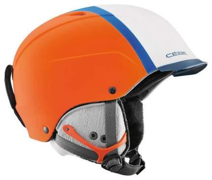 Горнолыжный шлем мужской Cebe Contest Visor Pro CBH266 2017, оранжевый, XL