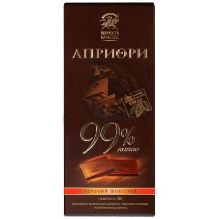 Шоколад горький верность качеству Априори 99% какао 100 г