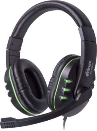 Игровые наушники Ritmix RH RH-555M Green/Black