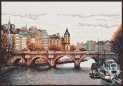 """Набор для вышивания """"Палитра"""" арт.08.013 """"Мост через Сену"""" 38х26 см"""