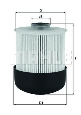Фильтр топливный Mahle/Knecht KX33826D