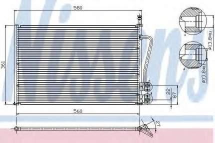 Радиатор кондиционера Nissens 94587