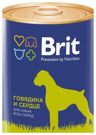 Консервы для собак Brit, говядина, сердце, 12шт, 850г