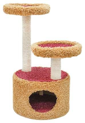 Комплекс для кошек Дарэлл, бежевый, розовый, белый, 3 уровня