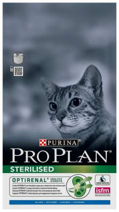 Сухой корм для кошек PRO PLAN Sterilised, для стерилизованных, кролик, курица, 3кг
