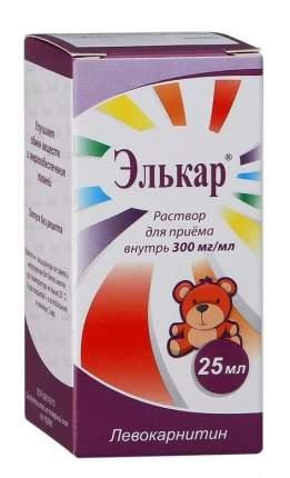 Элькар раствор для приема внутрь 300 мг/мл 25 мл