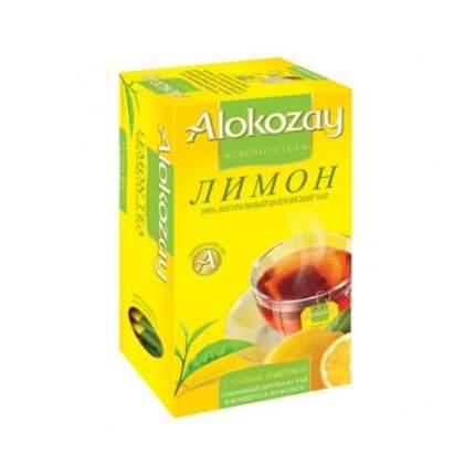 Чай черный в пакетиках для чашки Alokozay лимон 25*2 г