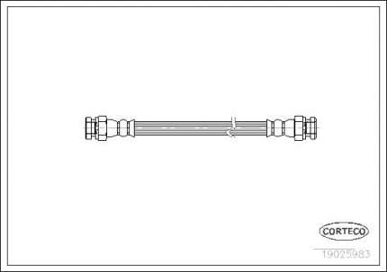 Шланг тормозной CORTECO 19025983